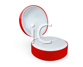 Royalty Free Clipart Image of a Red Jewellery Box