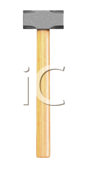 Royalty Free Clipart Image of a Sledge Hammer