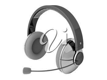 Royalty Free Clipart Image of Headphones