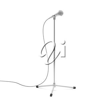 Royalty Free Clipart Image of a Microphone and Stand