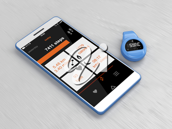 Activity tracker syncs with smartphone