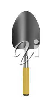 Garden trowel isolated on white background