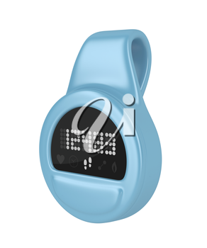 Clip-on activity tracker isolated on white background