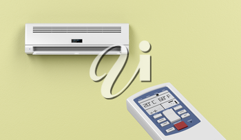 Remote controlled split system air conditioner