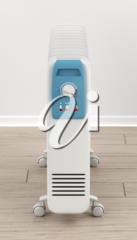 3d illustration of electric oil-filled heater