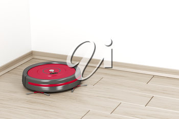 Cleaning the floor with robot vacuum cleaner