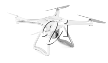 3D model of unmanned aerial vehicle (drone) with visible wire-frame