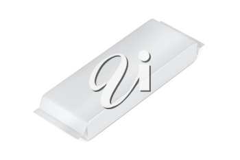 White blank packaging for chocolate, wafer or other types of foods