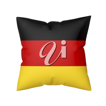 Pillow with the flag of Germany isolated on white background