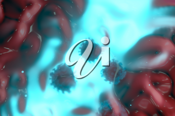 Coronavirus and infection,medical concept, 3d rendering. Computer digital drawing.