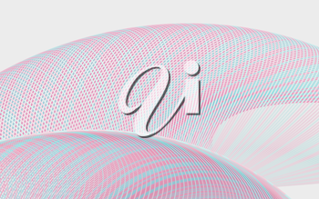 Wavy lines pattern background, curve structure, 3d rendering. Computer digital drawing.