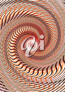 Royalty Free Clipart Image of a Radial Whirlpool Design