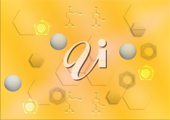 Royalty Free Clipart Image of a Chemistry Background
