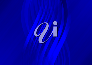 Royalty Free Clipart Image of a Blue Background With Curved Bands