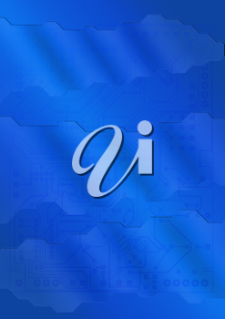 Royalty Free Clipart Image of a Blue Wavy Background
