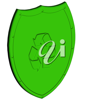 Image of a shield, as protection concept.