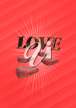 Three dimensional generate valentine's day background