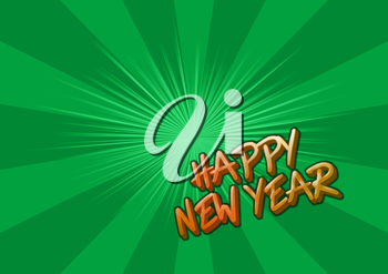 Background with the words happy new year