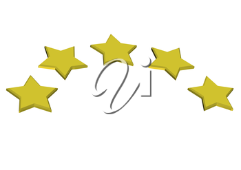 Royalty Free Clipart Image of a Row of Gold Stars