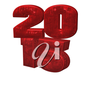 3d red text 2015 happy new year design.