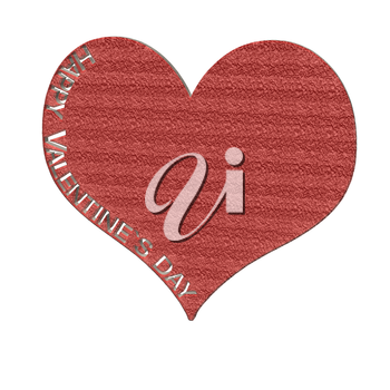 Happy Valentine's Day text cut from heart. Celebration card sample.
