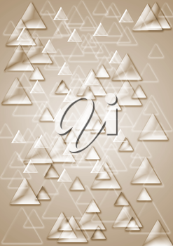 Abstract background consisting of set of shining triangles