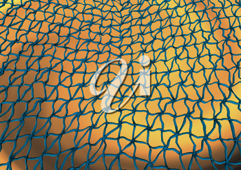 Abstract grid background with wired web cells