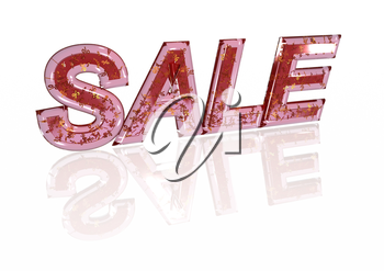 Word SALE made from many percentage symbols.