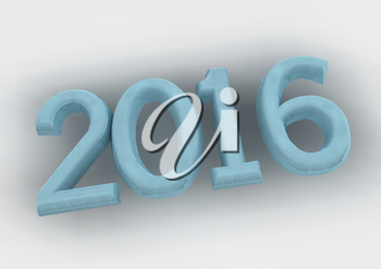 New year 2016 text creative greeting card design