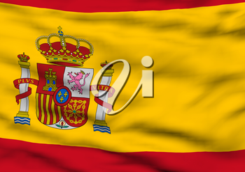 Image of a waving flag of Spain
