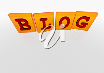 The BLOG word made of blocks with letters