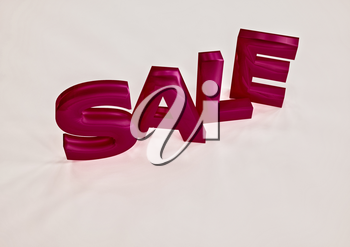 The dimensional word sale on a background. 3D illustration.