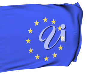 Image of a waving flag of Europe