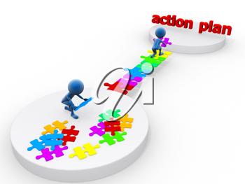 Royalty Free Clipart Image of an Action Plan