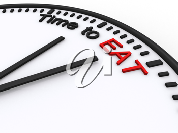 Royalty Free Clipart Image of Time to Eat
