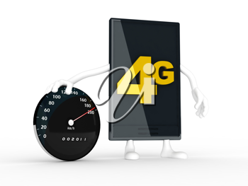 Royalty Free Clipart Image of a 4G Symbol