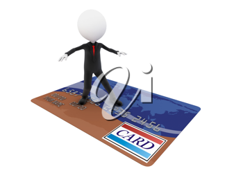 Royalty Free Clipart Image of a Businessman Surfing