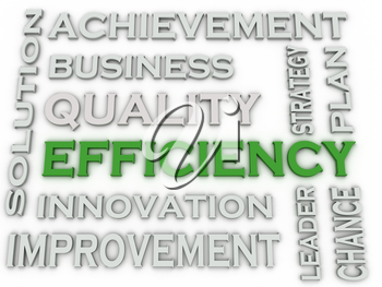 3d image EFFICIENCY  issues concept word cloud background