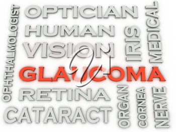 3d image Glaucoma  issues concept word cloud background