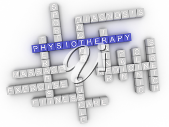 3d image Physiotherapy word cloud concept