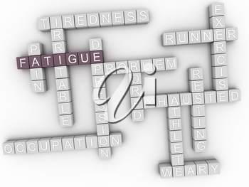 3d image Fatigue issues concept word cloud background