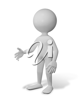 Royalty Free Clipart Image of a Person