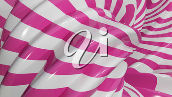 3D Illustration Abstract Caramel Background with Pink
