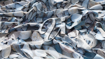 3D Illustration Sea Pebbles Abstraction Texture Wavy Material