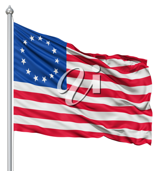 Royalty Free Clipart Image of the Betsy Ross Flag
