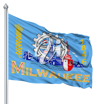 Royalty Free Clipart Image of the Milwaukee Flag