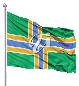 Royalty Free Clipart Image of the Portland City Flag