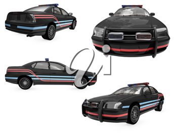 Royalty Free Clipart Image of Police Cars