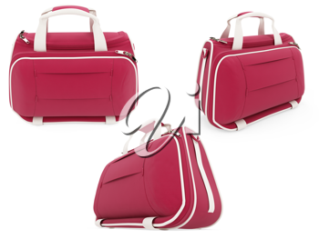 Royalty Free Clipart Image of Red Handbags
