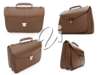 Royalty Free Clipart Image of Briefcases